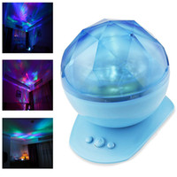 Cheap Diamond Aurora Borealis LED Projector Lighting Lamp Color Changing 8  Moods USB Light Lamp With Speaker Novelty Light