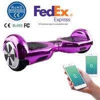Plated 6,5 pouces Smart Balance Wheel Hoverboard électrique Skateboard Monocycle Drift Auto équilibrant debout Scooter APP Control