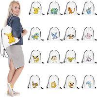 New-Drawstring Beam bolsos pikachu Mochila Sacos de compras Moda sacos de armazenamento Pikachu Sacos Presentes sacos atacado A0363