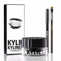 Kylie Gel Kyliner En Noir Avec Brosse Eyeliner Gel Pot (1 set = 1 eye-liner + 1 pinceau + 1 crème) MR214