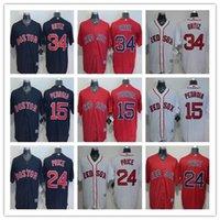 Wholesale 2016 Boston Red Sox 15 Dustin Pedroia 24 David Pri...