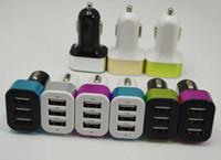 Alliage de métal 5V 4.1A Max 3 Port USB chargeur de voiture Mini chargeur universel pour Apple iphone 5 6 Samsung HTC LG