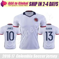 Colombie maillot 2017 Copa Ameirca maillots de football Colombie maillot de football blanc # 11 CUADRAD # 6 C SANCHEZ # 13 GUARIN # 10 JAMES Qualité thaïlandaise