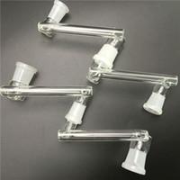 adaptateur déroulant en verre de haute qualité avec la bouche de gringding 14mm 18mm femmes hommes 10 styles commun pour bong de verre plate-forme pétrolière