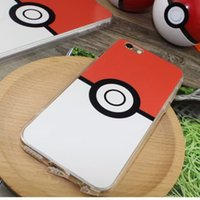 2016 New Hot Sale Case Cover Poke Go Phone Case TPU pour iphone 5 / 5s / 6 / 6s / 6 plus / 6s, plus PK0720 20pcs