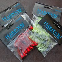 Fishing Lure Soft Bait Jig Head Worm Barbed Hooks 7 Pieces S...