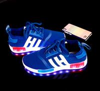 7 Colors LED luminous shoes unisex sneakers men women sneake...