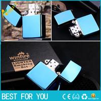 classic Windproof Metal Oil Cigarette lighter Smoking Fuel L...