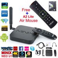 MINIX NEO U1 Android TV Box Amlogic S905 Quad Core 2G / 16G 802.11ac 2.4 / 5GHz WiFi H.265 HEVC 4K Ультра HD XBMC IPTV Google Smart TV Box