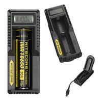 Nouveau chargeur Nitecore UM10 Chargeurs intelligents Écran LCD pour Li-ion IMR Batterie 18650 18490 18350 17670 17500 16340 (RCR123) 14500 gratuitement DHL