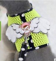 2016 pet clothes Wholesale pet harness traction rope net clo...