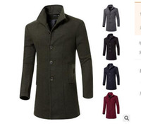 2015 Autumn and Winter Mens Windbreaker Jackets Fashion Soli...