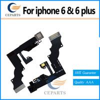 100% garantie Capteur de proximité d'origine avec câble d'appareil photo avant Flex pour iPhone 6 (4.7inch) pour iphoen 6 plus (5.5inch) Livraison gratuite