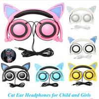 Cute Cat Ear Headphones Gaming Headsets Earphones Foldable F...