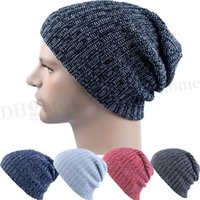 Unisex Fashion Beanies Knitted Casual Hats Winter Skull Cap ...