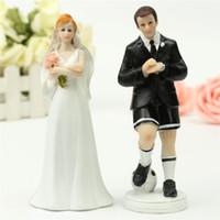 Wholesale- Romantic Wedding Cake Toppers Figure Football Socc...