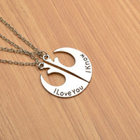 Couple Necklace A pair of Star Wars rebel badge creative sim...