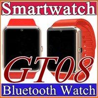 12X GT08 SmartWatche Bluetooth Smart Bracelet Watch Bluetooth Bracelet AvecSim Card Push Message Bluetooth Connectivité Téléphone Android C-BS