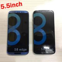 S8 edge Avoir LOGO 5.5inch android 6.0 HD écran cellulaire MTK6580A 1G 8GB clone téléphone