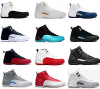 cheap new basketball shoes air retro 12 men TAXI Playoff ovo...