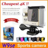 Caméra d'action 4K la plus chère EKEN W9se 1080P 2 pouces d'écran Mini DV 30M étanche caméra de sport extrême avec les couleurs du colis de vente au détail DHL 5pcs