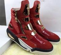 Alta qualidade Masculina alta moda top sneakers marca de luxo metal paillet Zipper decorar ferragem sapatos casuais Zapatos Hombre Plus tamanho 39-46