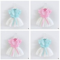2017 Summer Dresses Girl Baby Clothes Stitch Veil Baby Big B...