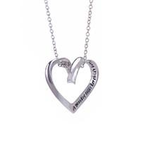 2017 infini En forme de coeur en forme de main gravure personnalisée bijoux en argent sterling bijoux cadeau de la mère collier zj-0903289-5