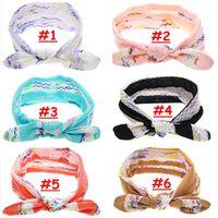 Girl Lace Rabbit Ears headband Baby summer Knot Headband Inf...