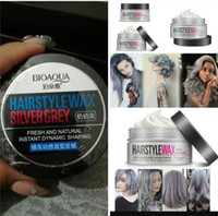 BIOAQUA HAIRSTYLE WAX Silver Grey Hair Wax 100G, Pommes Cheveux Professionnels, Natural Silver Ash Matte Hairstyle Cire pour Hommes Femmes