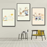 Wall Painting Nordic Modern Cartoon Cow Canvas Painting Wall Art Canvas Print Decorative Pictures Kids Room Home Decor