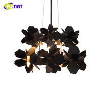 Post- modern Brief Metal Black Flower Suspension Lamp Creativ...