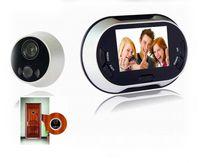 door peephole wide angle camera 3. 5 inch door viewer electro...