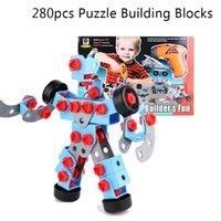 New 280pcs DIY Kids Puzzle Building Blocks Educational Robot...