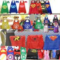 DHL Free Shipping 70x70CM 50pcs Kids Superhero Capes Double ...