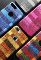 Nouveau pour iPhone 7 / 6S Mode Crocodile modèle PU cuir Housse de protection de couleur Business Business Case souple via Livraison gratuite