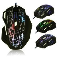 Professionnel souris gamer jeu souris jeu filaire ordinateur souris 5500DPI 7 boutons 7 couleurs LED optique USB pour pro gamer