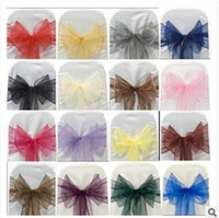 Banquet Organza Fabric 18*274cm Hot Lace Bowknot Sashes For Wedding Hotel  Wedding Party Decoration