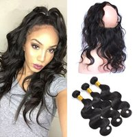 360 Lace Frontal With Bundle 4Pcs Lot Pre Plucked Brazilian ...