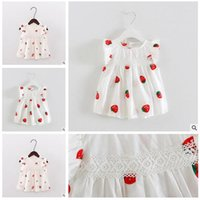 Girl Dresses 2017 Summer Baby Strawberry Bowknot Printing Dr...