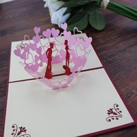3D Pop Up Greeting Card Heart Shape Valentine' s Day Hap...