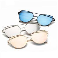 Óculos de sol lentes da lente da forma da maré retro nova óculos de sol e óculos de sol reflexivos coloridos da cor da geléia dos óculos de sol dos homens B1156