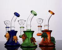 Coloré CHEECH Bongs en verre Concentré dab rigs avec douche diffuse perc Bubber Water Pipe avec joint de 14 mm pour grossiste
