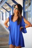 New Arrival Summer Mini Casual Dresses Wholesale V Neck Pane...