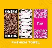 La toalla de playa de la letra rosada los 140 * 70cm se divierte la toalla CONTRA las toallas del cuarto de baño del traje de baño de la flor del leopardo de la toalla de baño 22 estilos OOA1257