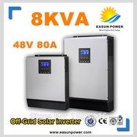 Промотирование солнечного инвертора 8Kva 6400W с инвертора сетки 48V к 220V 60A MPPT Чисто инвертор волны синуса 60A Заряжатель AC