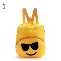 100pcs lot Emoji Plush Backpacks I Love you Letter Unisex ki...