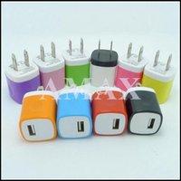 Double couleur US plug USB mur AC Accueil Travel Chargeur adaptateur secteur pour iPhone 5 5S 6 6s plus pour les téléphones cellulaires samsung 100pcs 10 couleurs