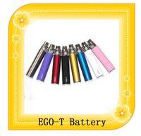 Batería del ego de la batería 650mah 900mah 1100mah de Ego t para los cigarrillos electrónicos del kit EVOD del ego 9 colores Envío libre