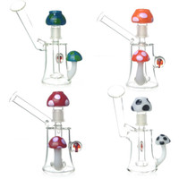 Mini-champignons Bongs en verre colorés Tuyaux Eau Pipes à fumer Bongs Plate-forme pétrolière en verre Plateaux en verre Heady Dab Rig 14mm